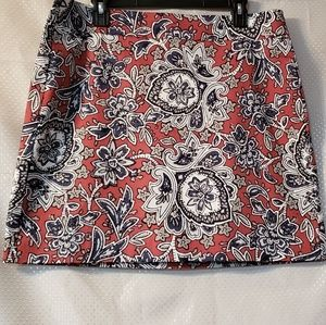 LOFT OUTLET FLORAL PRINT STRETCH SKIRT SIZE 12 NWT